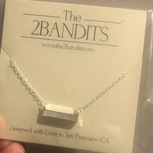 The two bandits bar necklace